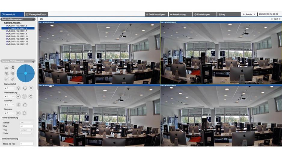Снимка на приложението на MOBOTIX MOVE NVR