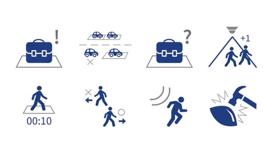 MOBOTIX MOVE Analytics Icons auf weiß